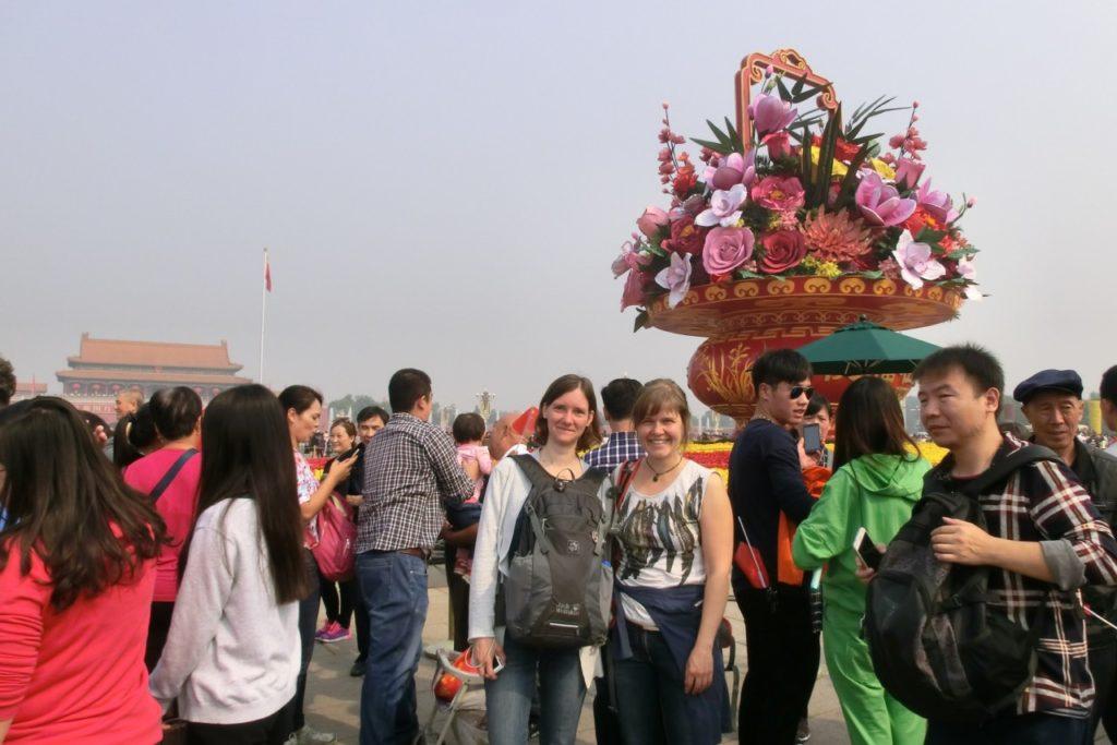Chinesischer Nationalfeiertag auf dem Platz des Himmlischen Friedens