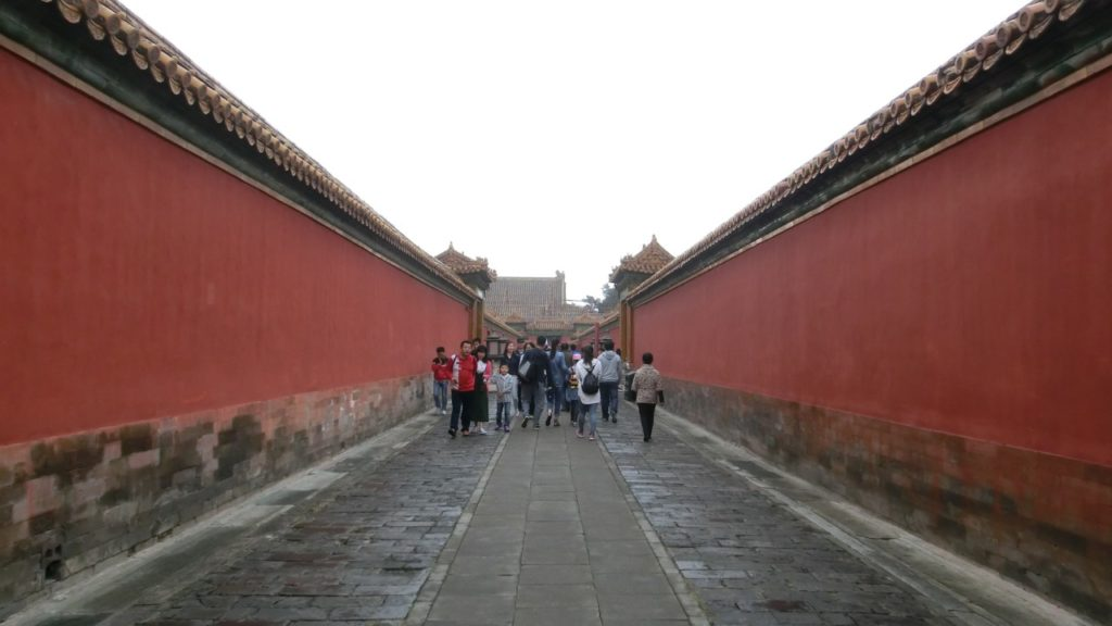 Red walls as far as the eye can see...