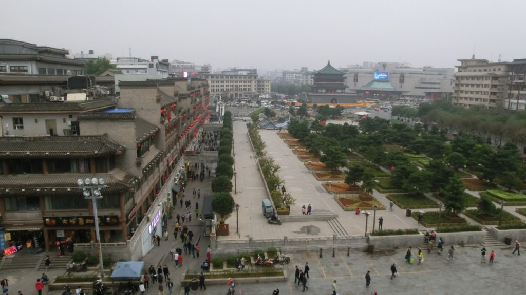 Xi'an as seen from Drum Tower