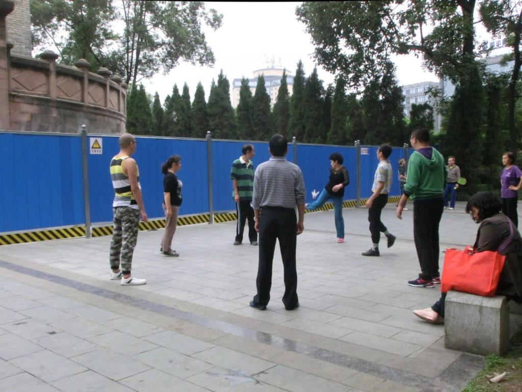 Fuß-Federball... oder Feder-Fußball?